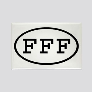 FFF Oval Rectangle Magnet