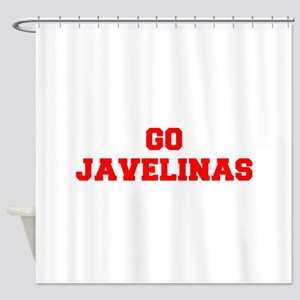 JAVELINAS-Fre red Shower Curtain