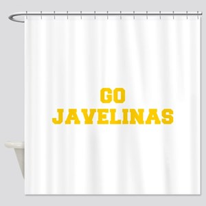 Javelinas-Fre yellow gold Shower Curtain