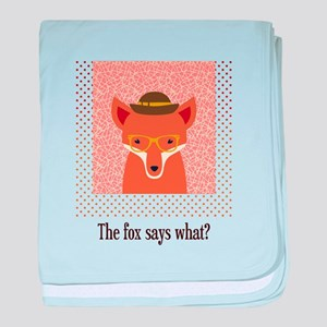 What Does the Fox Say baby blanket