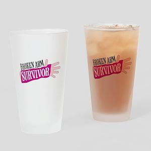 Broken Arm Survivor Drinking Glass