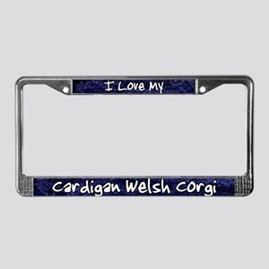 Funky Luv Cardigan Welsh Corgi License Plate Frame