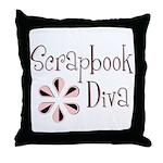 Scrapbook Diva Throw Pillow