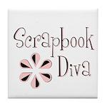 Scrapbook Diva Tile Coaster