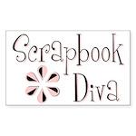 Scrapbook Diva Rectangle Sticker