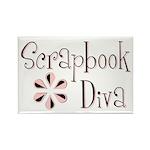 Scrapbook Diva Rectangle Magnet