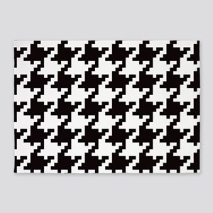 Pixel Houndstooth 5'x7'Area Rug