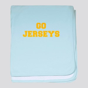 Jerseys-Fre yellow gold baby blanket