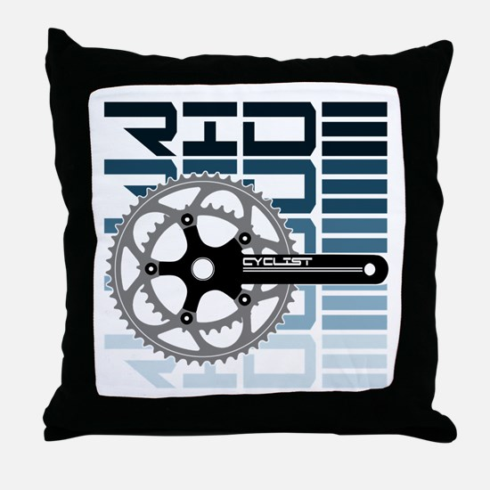 cycling-01 Throw Pillow