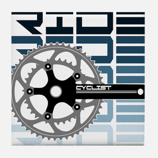 cycling-01 Tile Coaster