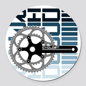 cycling-01 Round Car Magnet