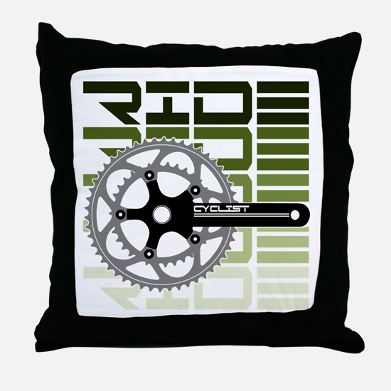cycling-03 Throw Pillow