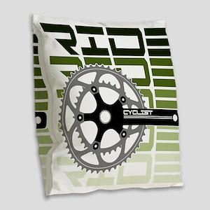 cycling-03 Burlap Throw Pillow