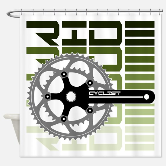cycling-03 Shower Curtain