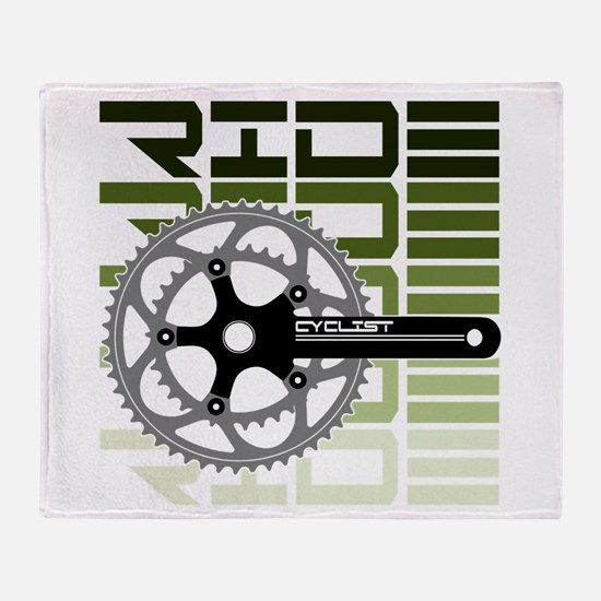 cycling-03 Throw Blanket