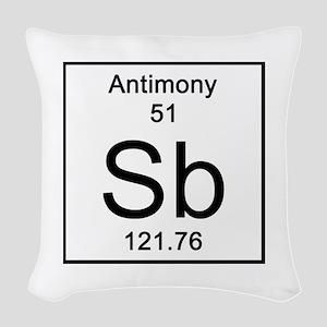 51. Antimony Woven Throw Pillow