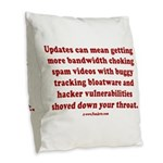 Software update Burlap Throw Pillow