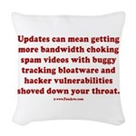 Software update Woven Throw Pillow