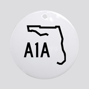 FLORIDA COASTAL ROUTE A1A Round Ornament