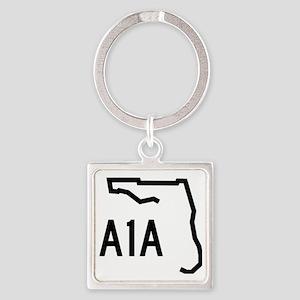 FLORIDA COASTAL ROUTE A1A Square Keychain