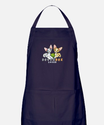 Devon Rex Lover Apron (dark)
