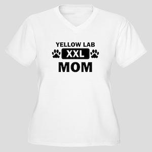 Yellow Lab Mom Plus Size T-Shirt