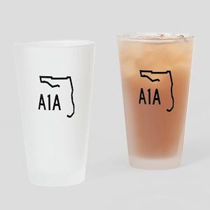 FLORIDA COASTAL ROUTE A1A Drinking Glass