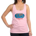 I'd rather be here Racerback Tank Top