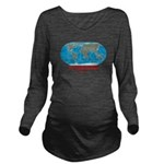 I'd rather be here Long Sleeve Maternity T-Shirt