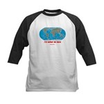 I'd rather be here Kids Baseball Jersey