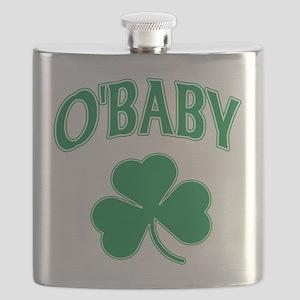 OBaby Irish Shamrock Flask