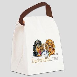 LH Dachshund Lover Canvas Lunch Bag