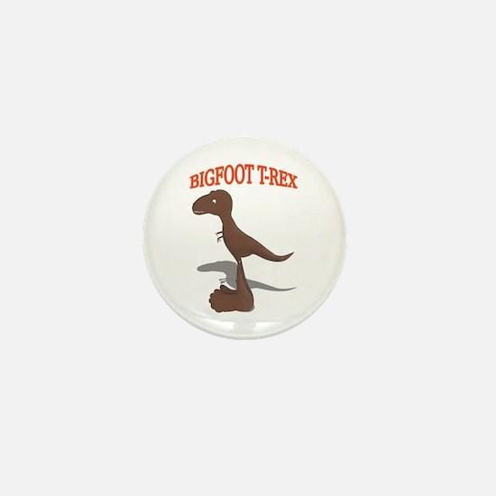 Bigfoot T-Rex Drawing Mini Button
