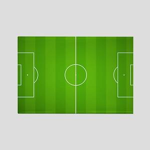 Soccer Field Rectangle Magnet