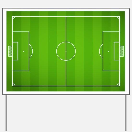 Soccer Field Yard Sign