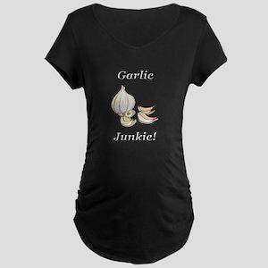 Garlic Junkie Maternity Dark T-Shirt