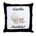 Garlic Junkie Throw Pillow