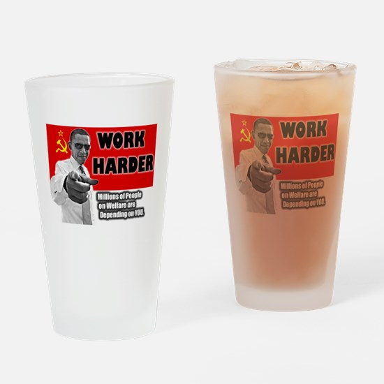 obamawork.png Drinking Glass