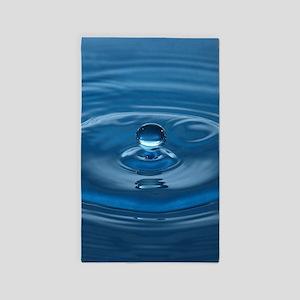 Blue Water Drop Area Rug