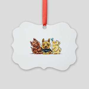 3 Australian Terriers Ornament