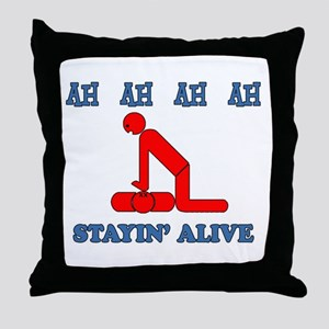 Stayin' Alive Throw Pillow
