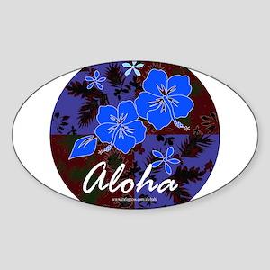 Aloha 2 Oval Sticker