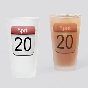 iphone date 420 Drinking Glass