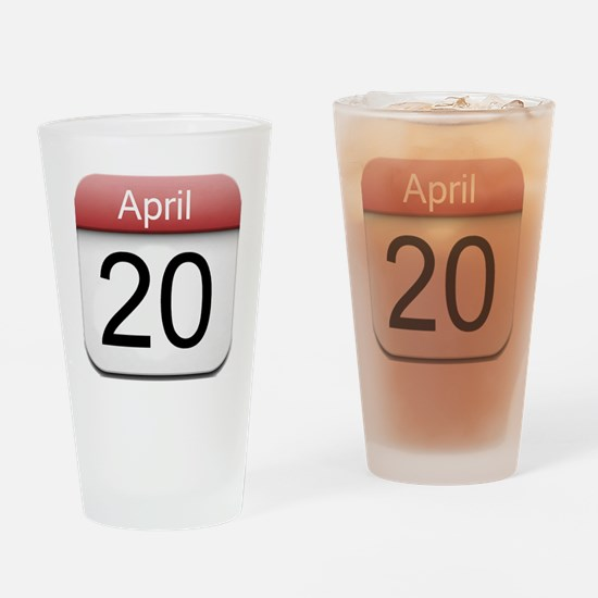 iphone date 420.png Drinking Glass