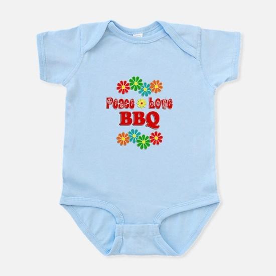 Peace Love BBQ Infant Bodysuit