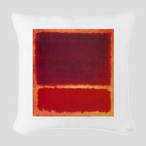 ROTHKO ORANGE RED Woven Throw Pillow