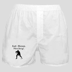 Eat Sleep Hockey Boxer Shorts