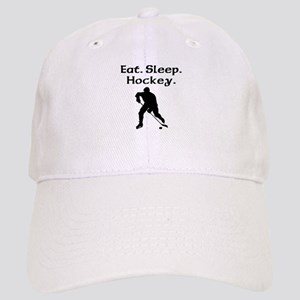Eat Sleep Hockey Baseball Cap