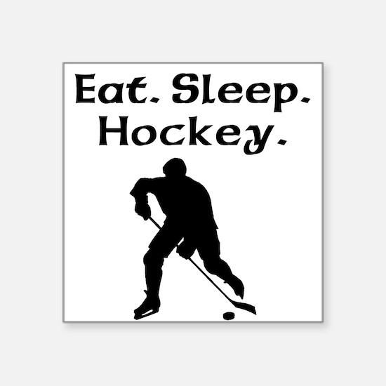Eat Sleep Hockey Sticker