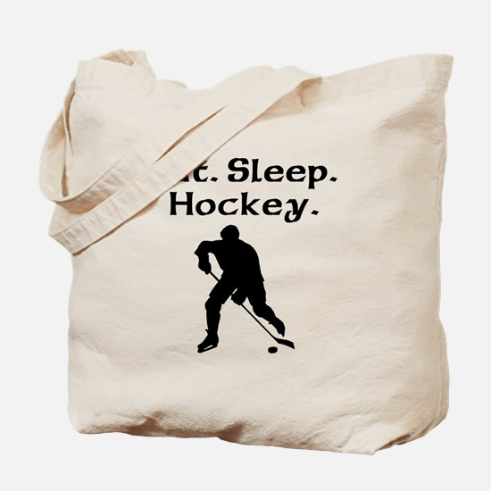 Eat Sleep Hockey Tote Bag